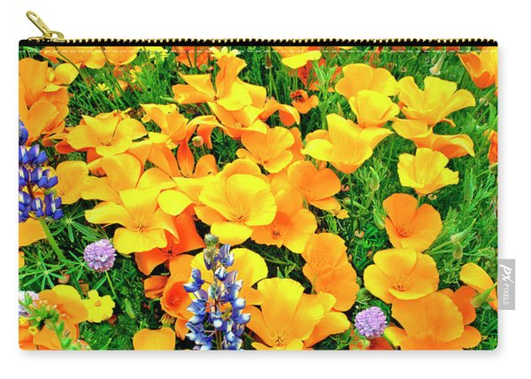 California Poppies And Betham Lupines Southern California Carry-all Pouch
