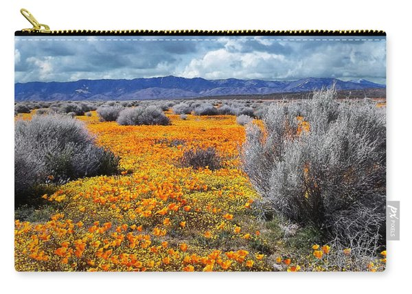 California Poppy Patch Carry-all Pouch