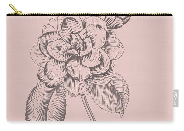 Camellia Blush Pink Flower Carry-all Pouch
