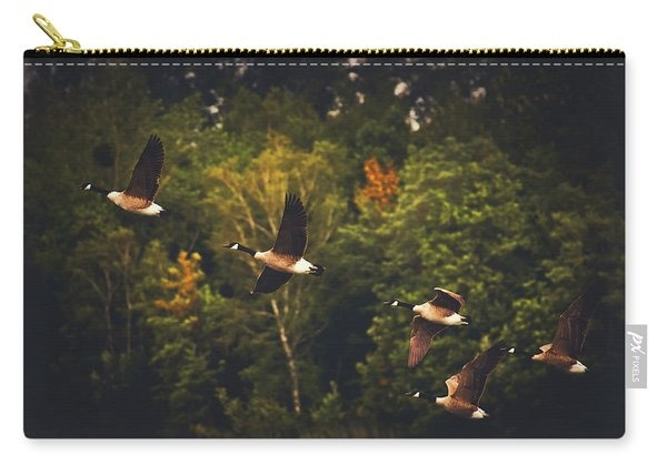 Canadian Geese In Flight Carry-all Pouch