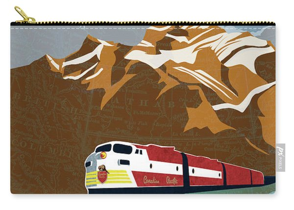 Canadian Pacific Rail Vintage Travel Poster Carry-all Pouch