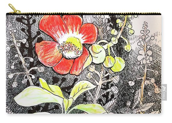 Cannonball Flower Botanical Carry-all Pouch