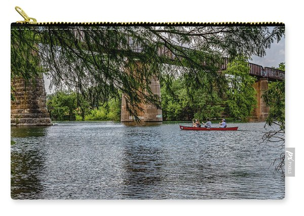 Canoeing Lady Bird Lake Carry-all Pouch
