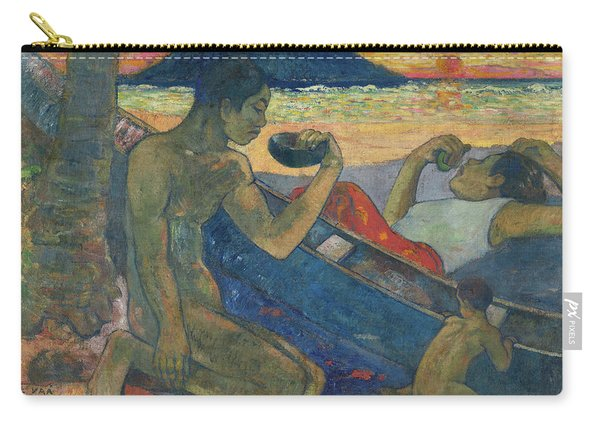 Canoe, Tahitian Family, 1896 Carry-all Pouch