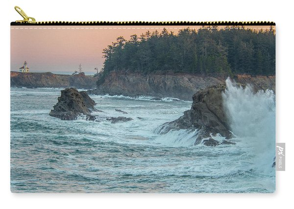 Cape Arago Lighthouse With A Splash Carry-all Pouch
