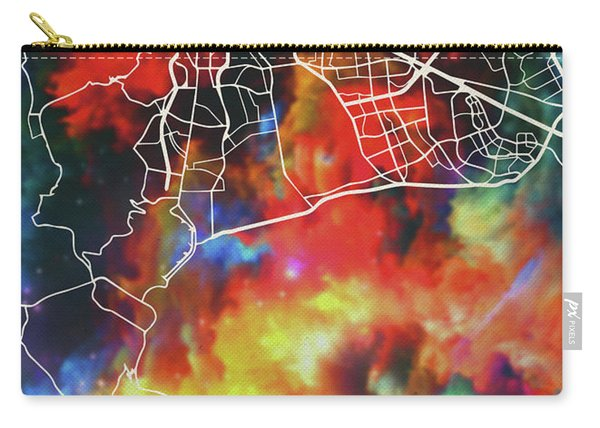 Capetown South Africa Watercolor City Street Map Carry-all Pouch