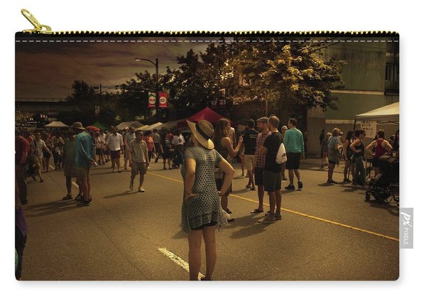 Carry-all Pouch featuring the photograph Car-free Day No. 7 by Juan Contreras