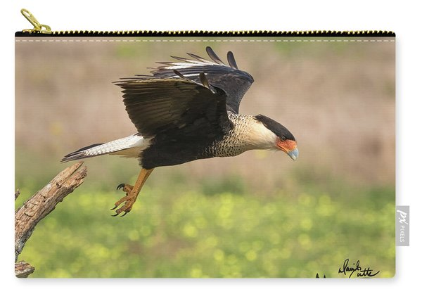 Caracara Taking Off Carry-all Pouch