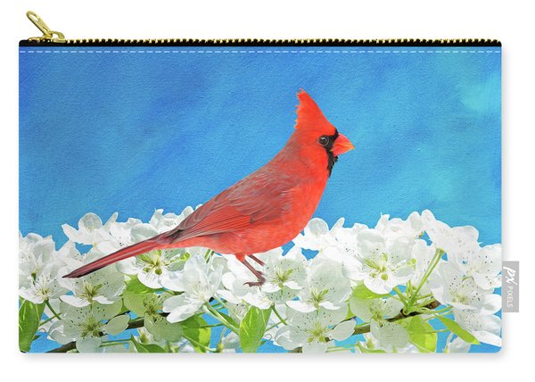 Cardinal In The Blooming Tree Carry-all Pouch