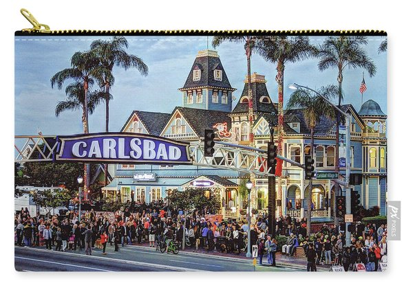 Carlsbad Village Sign Carry-all Pouch