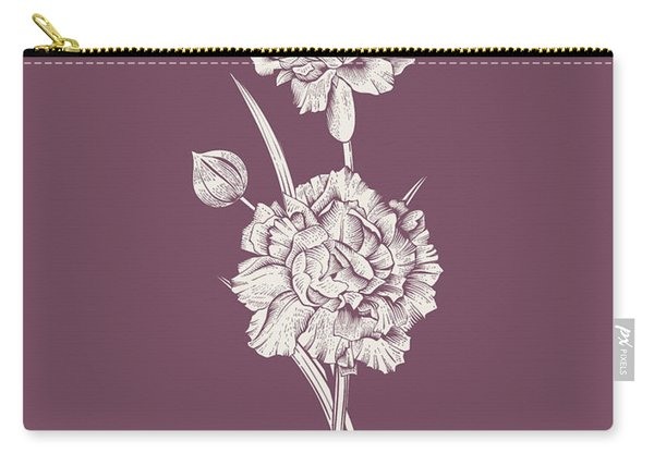 Carnation Purple Flower Carry-all Pouch