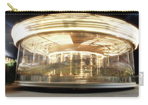 Carry-all Pouch featuring the photograph Carousel  by Edward Lee