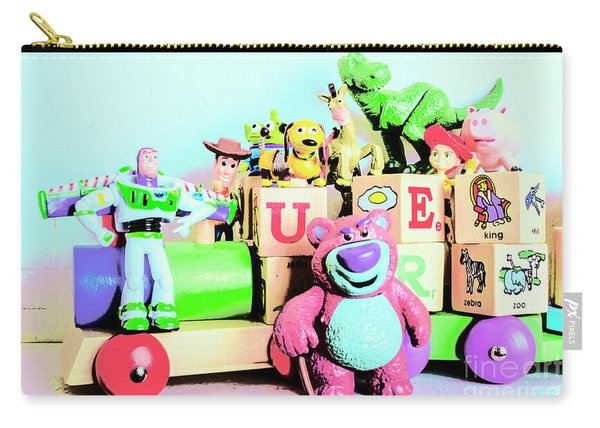 Carriage Of Cartoon Characters Carry-all Pouch