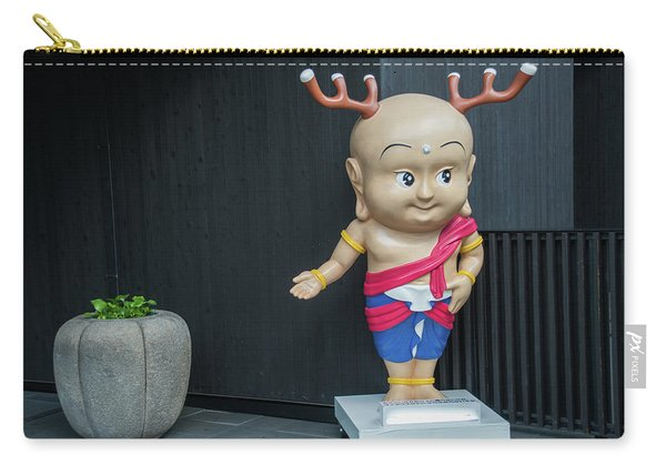 cartoon deer statue in Nara Japan Carry-all Pouch