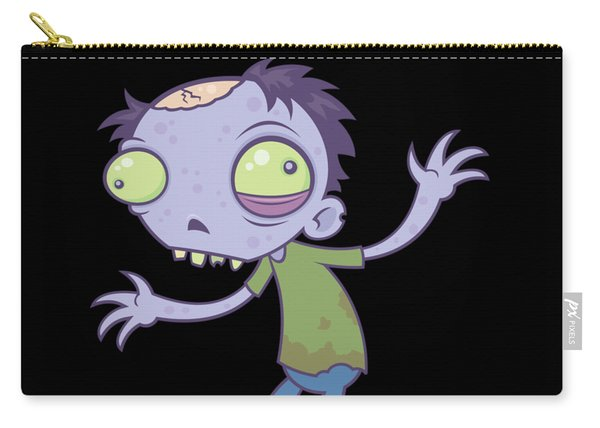 Cartoon Zombie Carry-all Pouch