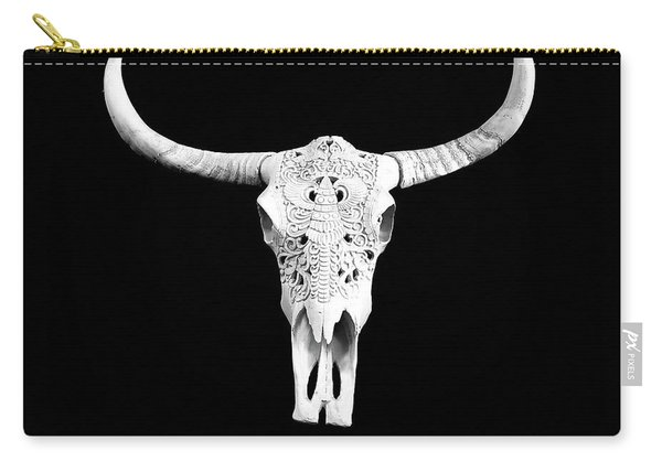 Carved Animal Skull  Carry-all Pouch