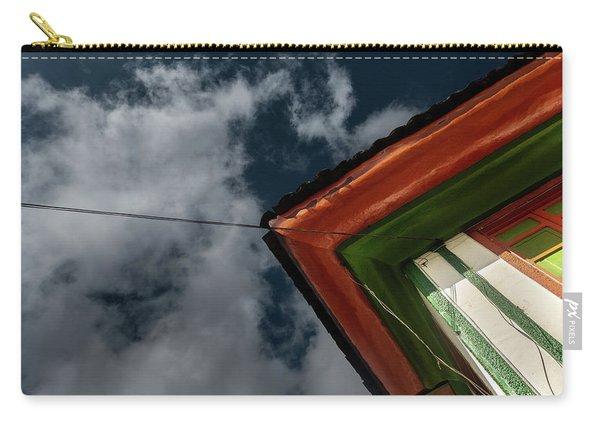 Carry-all Pouch featuring the photograph Casa Esquinera Cafetera by Juan Contreras