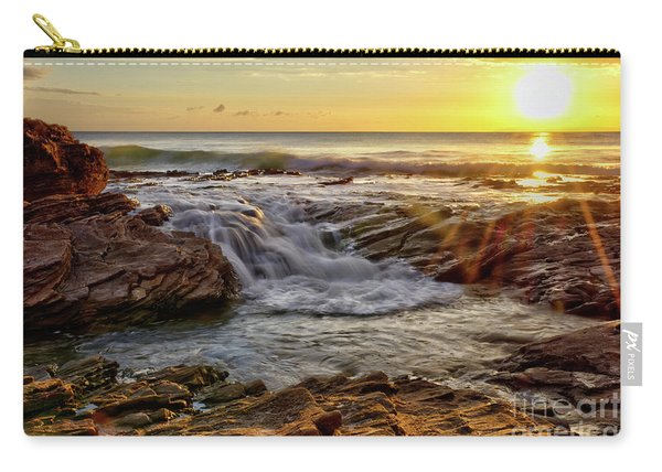 Cascading Sunset At Crystal Cove Carry-all Pouch