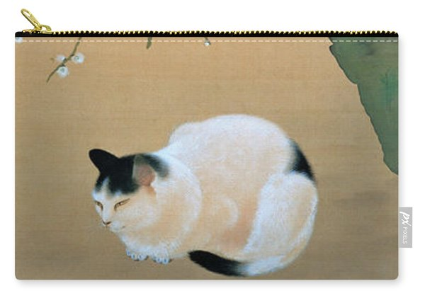 Cat And Plum Blossoms - Digital Remastered Edition Carry-all Pouch