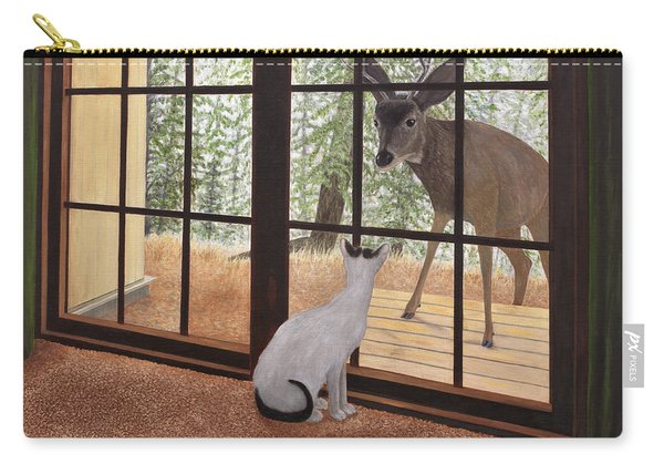 Cat Meets Deer Carry-all Pouch