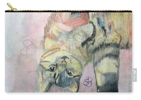 Playful Cat Named Simba Carry-all Pouch