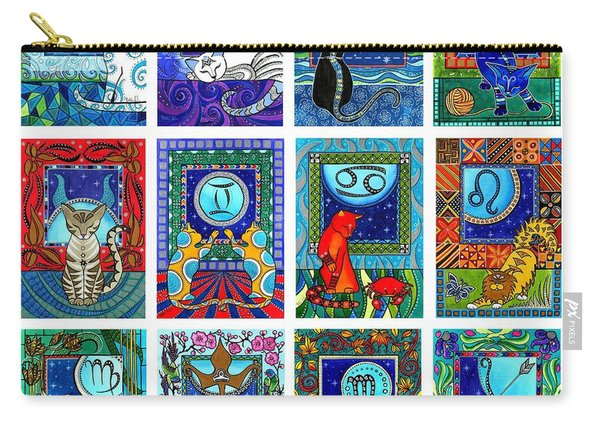Cat Zodiac Paintings  Carry-all Pouch