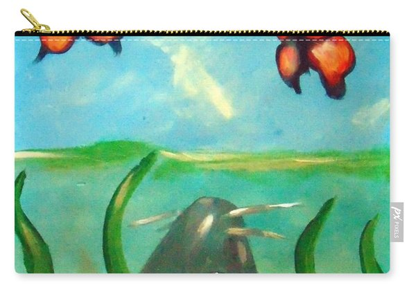 Carry-all Pouch featuring the painting Catfish Butterflies by Loretta Nash