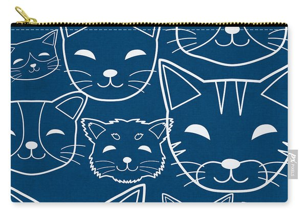 Cats- Art By Linda Woods Carry-all Pouch