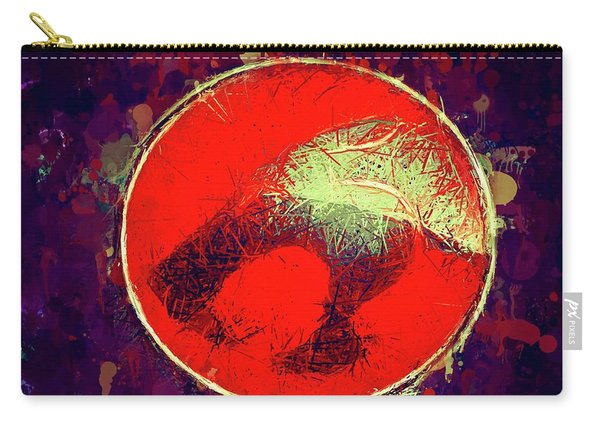 Carry-all Pouch featuring the mixed media Thundercats Logo by Al Matra