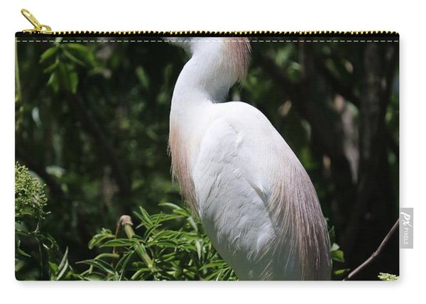Cattle Egret With Breeding Feathers Carry-all Pouch