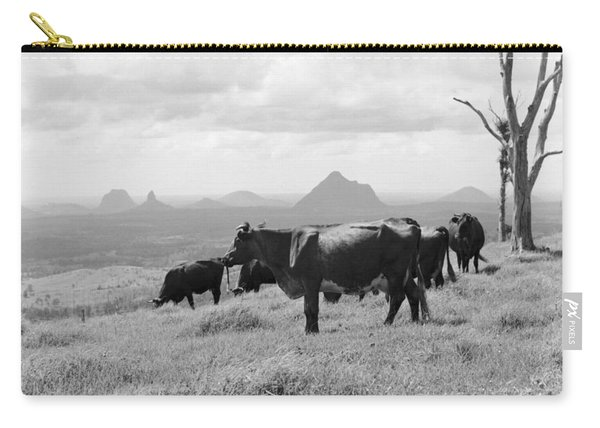 Cattle Farm Near Glass House Mountains  December 1970 Carry-all Pouch