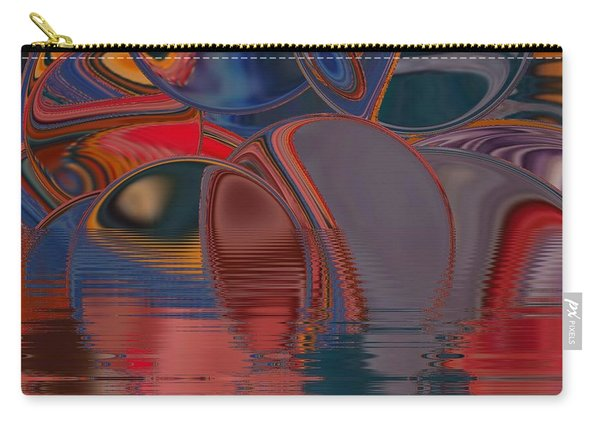 Carry-all Pouch featuring the digital art Cave De Sensation by A zakaria Mami