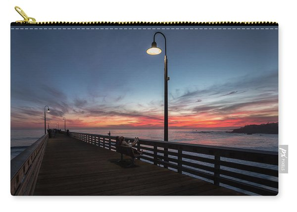 Cayucos Pier Sunset Carry-all Pouch