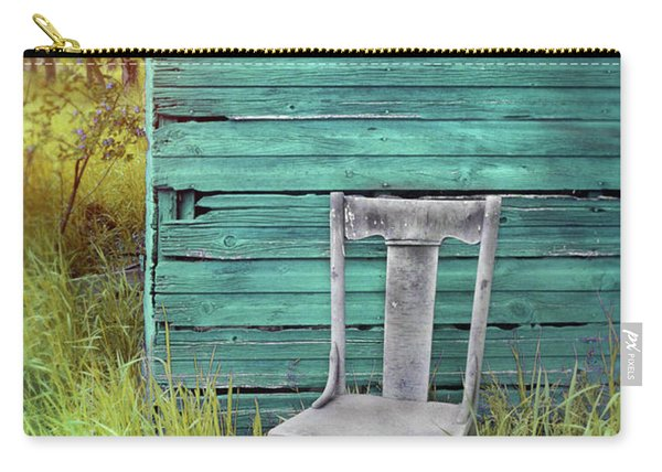 Chair By The Blue Shed Carry-all Pouch