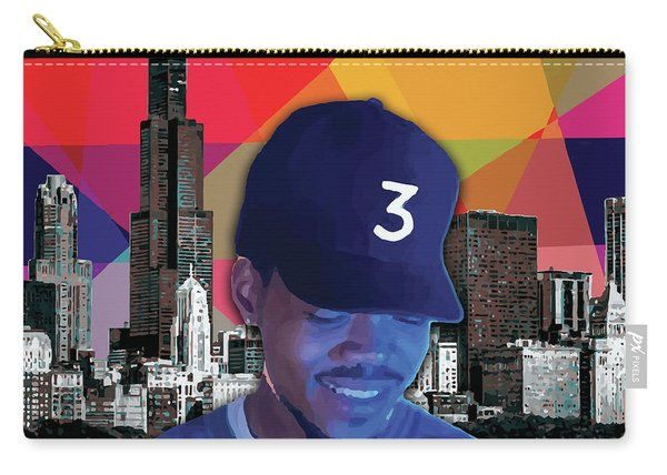 Carry-all Pouch featuring the painting Chance Chicago by Carla B