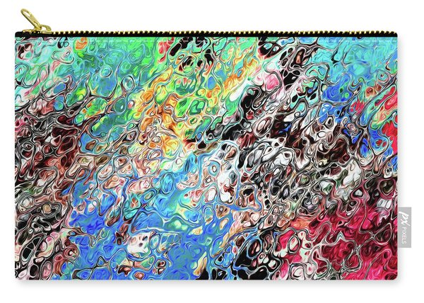 Carry-all Pouch featuring the digital art Chaos Abstraction Bright by Don Northup