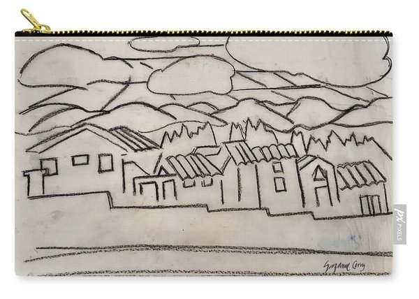 Charcoal Houses Sketch Carry-all Pouch