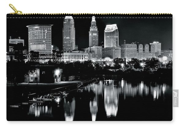 Charcoal Night View Of Cleveland Carry-all Pouch