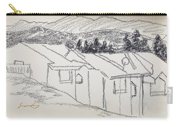 Charcoal Pencil Houses1.jpg Carry-all Pouch