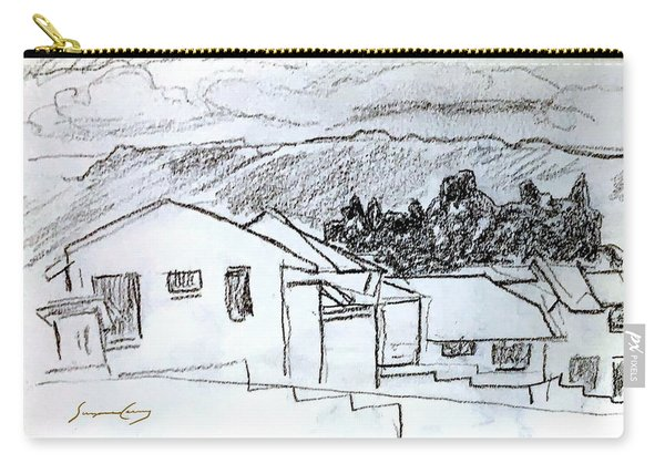 Charcoal Pencil Houses.jpg Carry-all Pouch