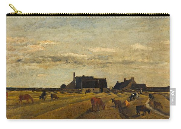 Charles-francois Daubigny - Farm At Kerity, Brittany Carry-all Pouch