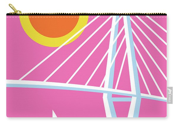 Charleston Poster - Modern Travel  Carry-all Pouch