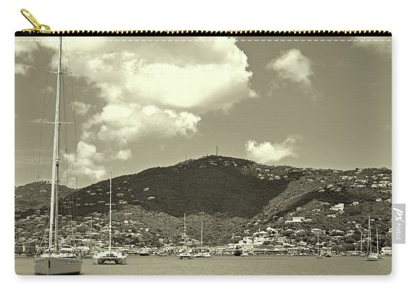Charlotte Amalie Harbor In Sepia Carry-all Pouch
