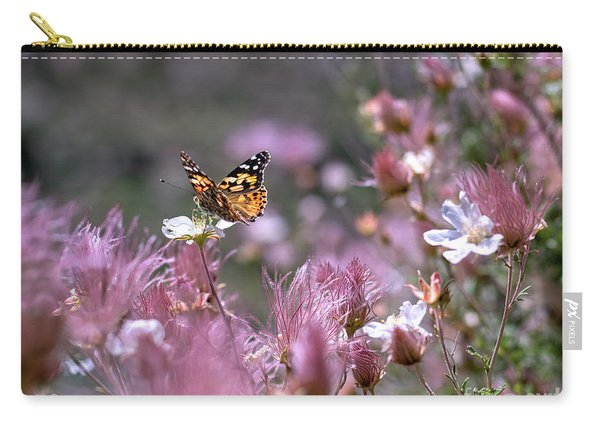 Carry-all Pouch featuring the photograph Chasing Butterflies by Susan Warren