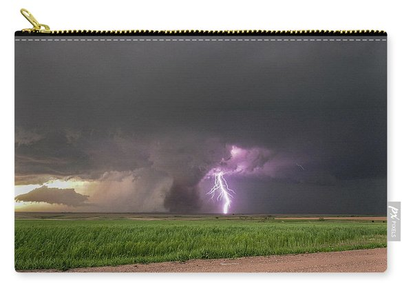 Carry-all Pouch featuring the photograph Chasing Naders In Nebraska 017 by Dale Kaminski