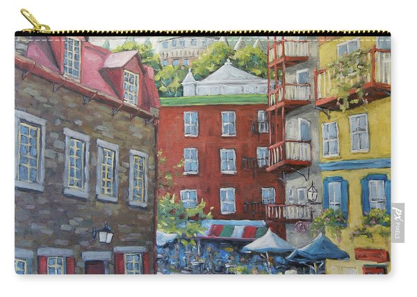 Chateau Frontenac Lower Quebec By Richard Pranke Carry-all Pouch