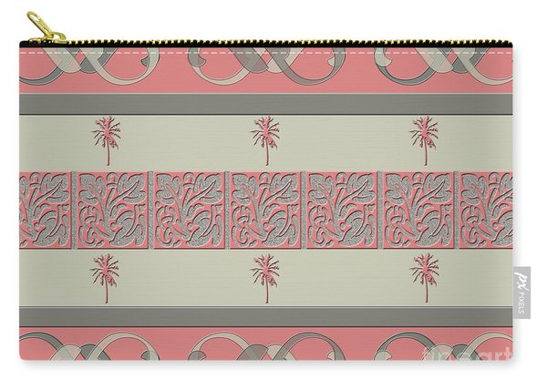 Cheery Coral Pink Carry-all Pouch