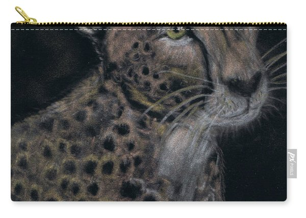 Cheetah Portrait In Pastels Carry-all Pouch