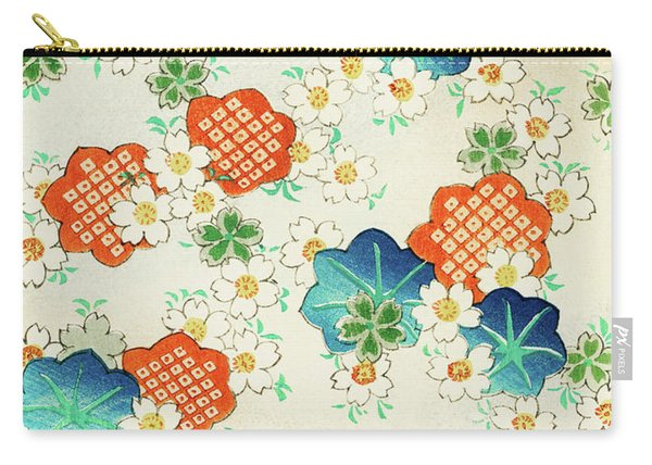 Cherry Blossoms And  Fallen Leaf- Japanese Traditional Pattern Design Carry-all Pouch