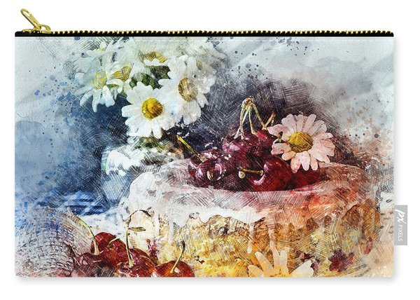 Cherry Blossoms Cakes Carry-all Pouch